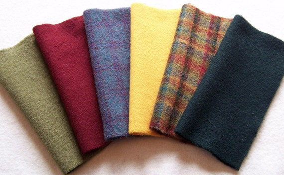 Hand Dyed Felted Wool, 8inx 8in. for Applique, Penny Rugs, Sewing Projects - W842