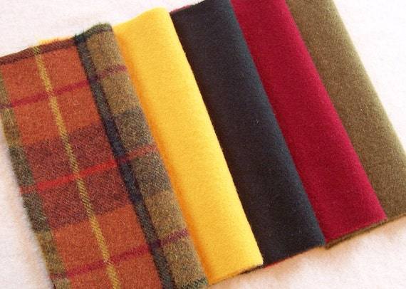 Hand Dyed Felted Wool for Applique, Penny Rugs, Sewing projects / W875