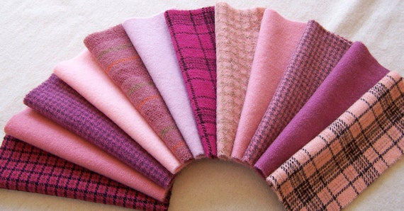 Hand Dyed Felted Wool for Applique, Penny Rugs and Sewing Projects / W1019