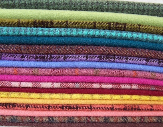 Hand Dyed Felted Wool for Applique, Penny Rugs, Sewing Projects W1022