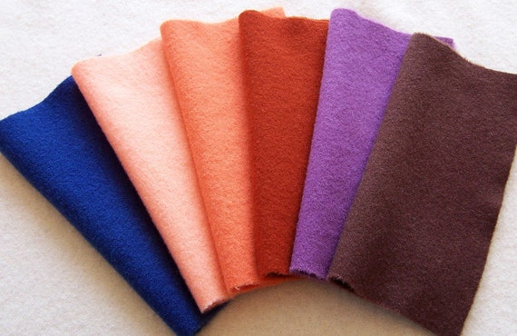 Hand Dyed Felted Wool, 8in.x 8in. for Applique, Penny Rugs, Sewing Projects / W1026