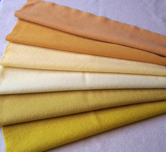 Hand Dyed Felted Wool Fabric for Rug Hooking, Applique, Penny Rugs and Sewing Projects/ H156