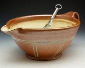 Stoneware Batter Bowl with Lines