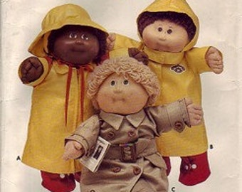 Cabbage Patch Lot - 2 iron-on appliques and sewing pattern (jackets, hat, belt, boots)