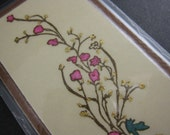 Laminated Branch With Flowers Bookmark