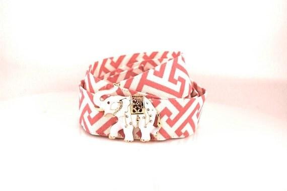 Pink Lattice Belt