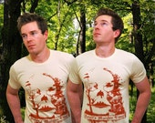Premium Skull illusion Design on Unisex American Apparel T Shirt