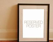 RESERVED ITEM - Custom poster for Lynn