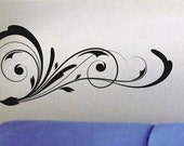 Nice Floral Design Decal Sticker Wall modern beautiful