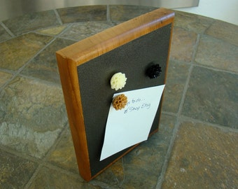 Solid Natural Cherry Magnetic Board with Resin Flower Magnets