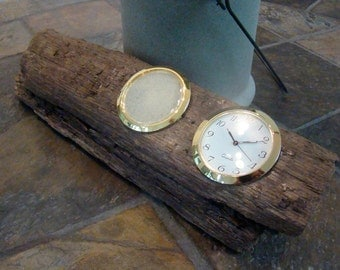 Natural Beach Driftwood Clock and Picture Frame