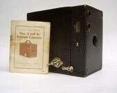 ON RESERVE NICOLE  B Vintage Kodak Brownie Box Camera with Booklet