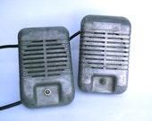 Matching Pair of Vintage Drive-in Speakers