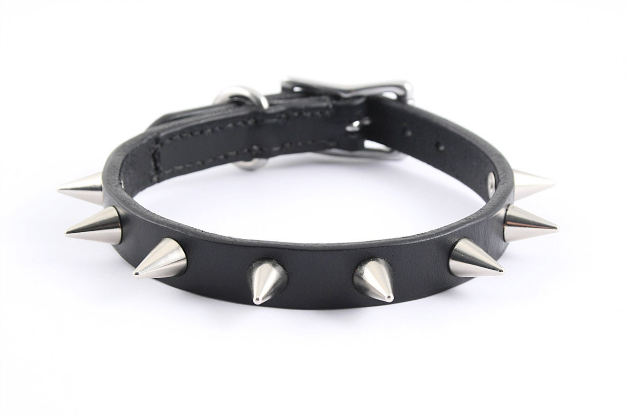 Black Leather  Dog Collars