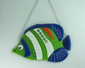 Green White and Blue Fish