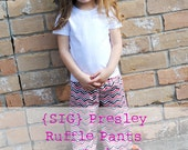 SIG Presley Ruffle Pants Pattern eBook - Size 12 month to 5T