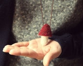 Mushroom Pendant (Red & Withe)