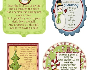Secret Santa Gift Tag Poem- JPG File