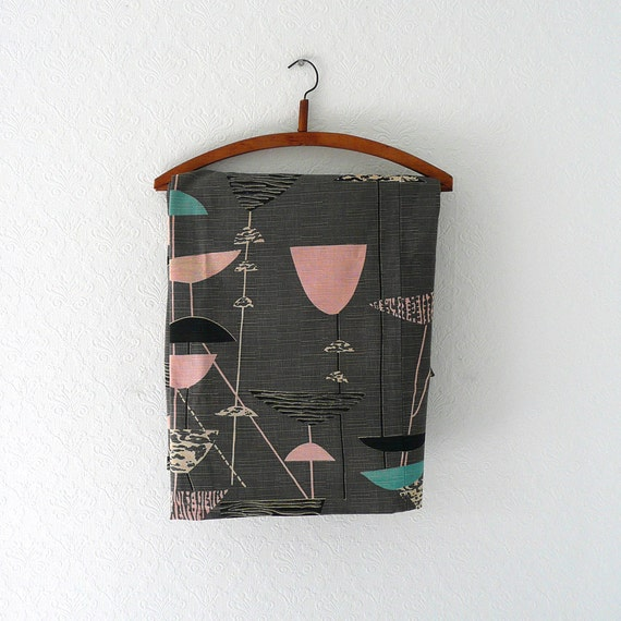 RESERVED for Hilary Vintage Lucienne Day Calyx Mid Century Modern Fabric, 3 Yards - 1 of 2