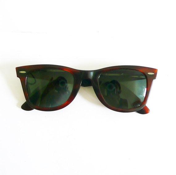 e8a879fd6c Vintage B L U E Ray Ban Wayfarer 5024 Sunglasses