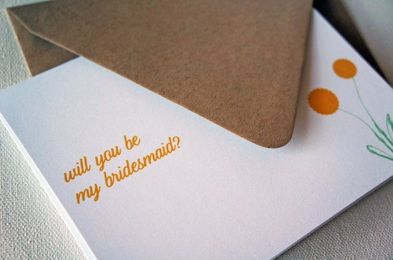 Will You Be My Bridesmaid Card, Wedding Party Card, Bridesmaid MOH Card