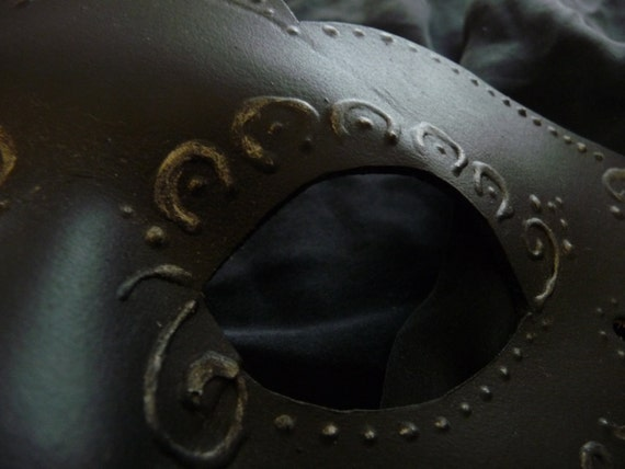CLEARANCE SALE:  Antique Filigree- Handmade Leather Mask