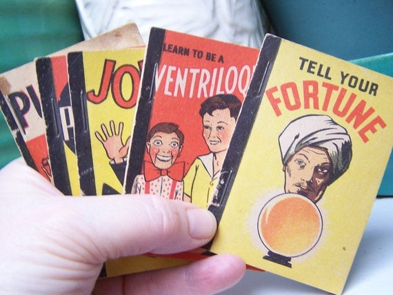 5 Wee Books 1938 Whitman Publishing Ventriloquist Fortune Puzzles Jokes