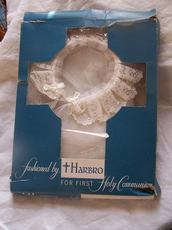 Vintage Holy Communion VEIL unused in package by Harbro fachioned for her most sacred hour
