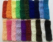 1.5 inch Crochet Headbands--------You Pick Colors-------Lot of 30------