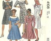Vintage McCalls Pattern Dress 4108 year 1989 size 12