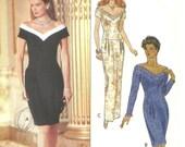 Butterick Pattern 5837 Vintage Dress Rimini year 1991 size 6 8 10