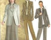 Butterick B4357 Jacket Skirt Pant Year 2004 size 6 8 10 12