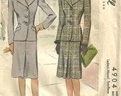 Vintage 1942 McCalls Suit Skirt Jacket size 14