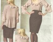 vogue designer pattern 1199 Blouse rebecca taylor sz 6-12 new FF