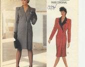 Vogue 1237 Paris Original Yves Saint Laurent Coat DressVintage Rare sz 12