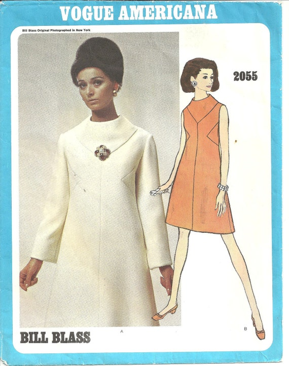 Vogue Americana Dress Pattern 2055 Bill Blass 1960s size 16