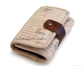Tri-fold wallet sewing pattern/tutorial for iphone/ipod wallet  -- PDF -- Make It Yourself