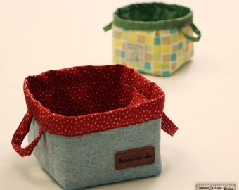 Fabric bins pattern, Baskets sewing pattern  -- PDF--Beginner