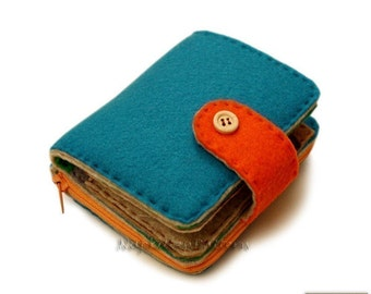 Wallet sewing pattern/tutorial, felt wallet pattern-- PDF file -- Instant download