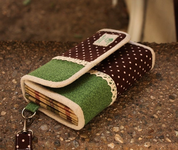 Accordion wallet/clutch sewing pattern -- PDF