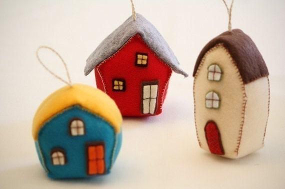 Three houses sewing pattern --- PDF