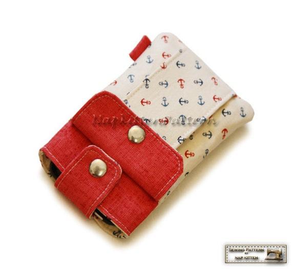 Iphone sleeve, iphone bag for iphone 4, iphone 5,iphone 6/6s/SE,iphone6 plus/6s plus sewing pattern/tutorial -- PDF file