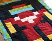 Lil Bigger Geek, Robotron Style Quilt