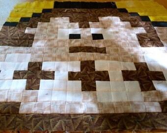 CUSTOM Lil Bigger Geek 8-Bit Video Game Quilt - Gaming Size