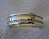 Sterling Silver Double Groove Band