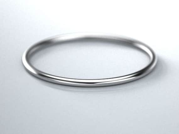 10k womans gold round wire 18 ga 1mm ring
