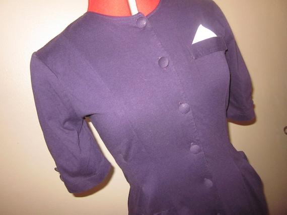 SALE Vintage Purple Secretary Dress