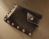 The STUD iPhone iPod leather studded case sleeve card holder - Black - READY TO SHIP