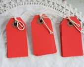 Small Red Parcel Tags