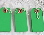Small Dark Green Parcel Tags